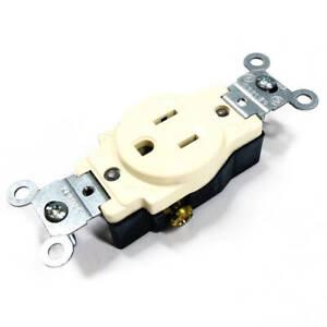 5015-A Leviton Receptacle, 2-Pole, 3-Wire, 15 A-125 V, Nema 5-15R