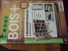 8µ? Revue BOIS + n°11 Plans encarté Meuble range CD DVD Banc jardin Ecran terras