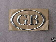 Classic Mini Cromo GB Pegatina Calcomanía Oval Coche MG Triumph Rover Jaguar 2J2