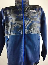 Vintage North Face Jacket Fleece Blue Camouflage Outdoors Hiking Boho Activewear