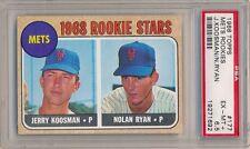 NOLAN RYAN 1968 TOPPS #177 NEW YORK METS ROOKIES RC ROOKIE CARD PSA 6.5 EX-MT+