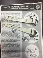Vintage Schutt Football Chin Strap Four Point Adapter Rare Usa Made