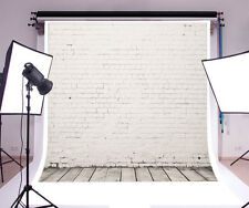 8x8FT  White brick wall Vinyl Photography Props Backdrops Studio Photo