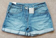 BNWT GIRLS NEXT DENIM SHORTS 11 YR 10-11 NEW WINTER BLUE JEANS TOP T-SHIRT DRESS