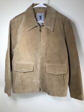 Adventures On The Wing Suede Jacket Tan Large quilted lining JLC