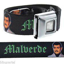 Jesus Malverde Narco-Saint Sinaloa Weed Marijuana Seat Belt Style Buckle-Down