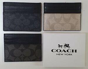Genuine Leather Credit Card Holder Card Case & ID Holder COACH Men Wallets Women