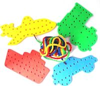Transport Lacing Shapes 4 Pack Threading Laces String Lace Toy Fine Motor Skills