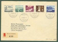 SVIZZERA-Switzerland-Schweiz. Lettera raccomandata del 1954 da Berna a Treviglio