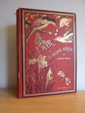 L'AIR ET LE MONDE AERIEN * A.MANGIN * CARTONNAGE POLYCHROME 1893 * GC
