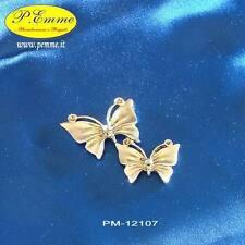 Bomboniera Matrimonio segnaposto Coppia Farfalle zama argentata PM-12107