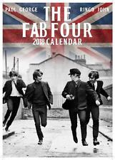 BEATLES FAB FOUR 2018 CALENDAR LARGE SIZE UK  WALL BY OC + FREE UK POSTAGE !!