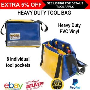 HEAVY DUTY TOOL Carry BAG Beehive Handyman Tradesman Electrician Solid PVC Vinyl