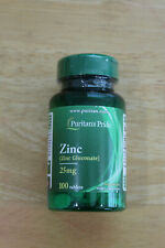 Puritans Pride Zinc 25mg 100 tablets FREE SHIPPING Exp 09/22