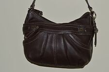 Tignanello Brown Leather Shoulder Hobo Bag Purse Excellent Used 1X