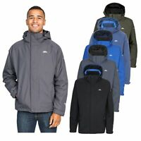 Trespass Edwards Mens Lightweight Waterproof Jacket Blue Grey Black Green