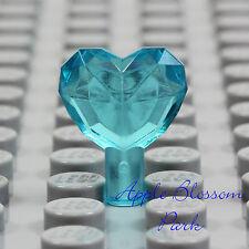 NEW Lego TRANS LIGHT BLUE HEART JEWEL -Princess Girl Friend Gem Crystal Treasure
