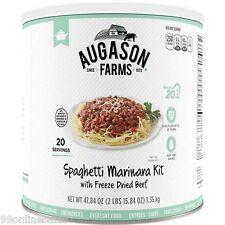 Augason Farms Spaghetti Marinara Beef Emergency Survival Camping Outdoor RV Food