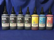 700ml Bulk Refill Ink for HP Epson Canon Brother printer extra 3Black +4 syringe