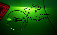 Gato Simon 's Cat por favor combustible sticker lámina Pegatina Tapa gasolina forraje