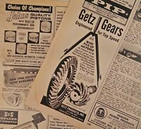 1960s Car Magazine Print Ads Getz Gears Drag Fast S&S Headers Speedway Motors