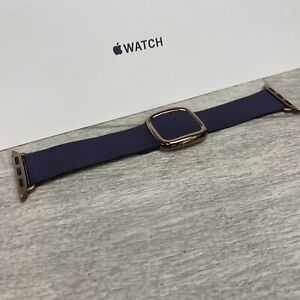 Genuine Apple Watch Modern Buckle Leather Strap Band Aubergine 40mm 38mm Large