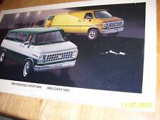 Vintage 1982 Chevy Van  GM Dealer Showroom Poster Sign 32x18, Cardboard
