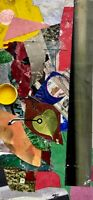 """Fontina"" Small Abstract Collage Painting - Steven Tannenbaum Original Art"