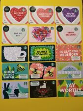 "STARBUCKS GIFT CARDS"" 15 CARDS 2021 VALENTINE'S SERIES W/ YEAR OF THE OX"" NEW 🔥"