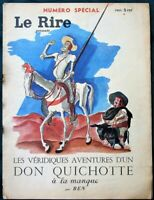 Don Quixote / French Socialist Prime Minister Blum 1939 French Magazine Le Rire