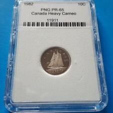 Canada, 10 cents, Ten cents. 1982. PR-65. Heavy Cameo. PNG # 11911