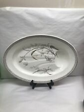 Antique T & R Boote Ironstone Brown Transferware Well Tree Platter c1840