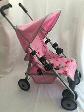 Maclaren Doll Stroller PINK with Flowers
