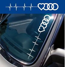 For AUDI - Heartbeat Logo - CAR DECAL STICKERS - 560mm long - Colour Choice!