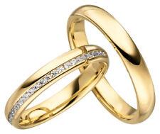 2x JC Trauringe Eheringe Gold Plattierte Verlobungsring inkl.Gravur & Etui JC005