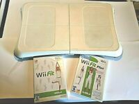 Wii Fit Board Bundle with Wii Fit and Wii Fit Plus  Tested and Working