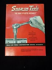 Vintage 1953 Snap-on Tools catalog, Whitworth motorcycle race drag Blue Point