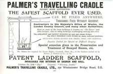 1901 Palmers Travelling Cradle Ltd Westminster Bridge Road Ad