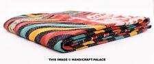 Kantha Quilt Indian Vintage Reversible Throw Embroidery Blanket Bedspread Gudari