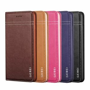 Luxury Genuine Leather Wallet Case Magnetic Flip Cover For Galaxy S8 S9 S10+ S20