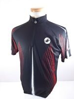 Castelli Mens Black Short Sleeve Jersey 1/4 Zip Size XL