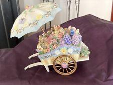 San Francisco Music Box Flower Cart With Umbrella