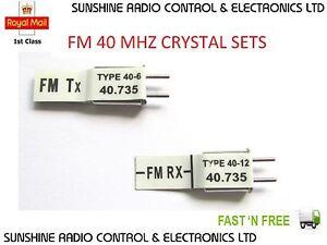 RC Futaba Compatible Xtals FM 40 MHz Crystals Receiver & Transmitter RX TX Set