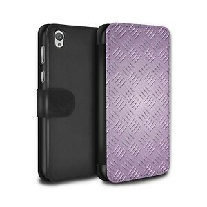 PU Leather Case/Cover/Wallet for Sony Xperia E5/Embossed Metal Effect/Pink
