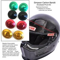 red 99011 Shield Pivot Kit to fit Simpson Outlaw Bandit Helmet 2017