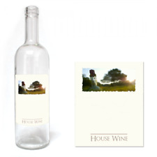 Wine Bottle Labels Self Adhesive Water Proof Home Made Brew Label 30 PACK Plain