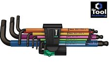 Wera Tools Germany Mixed Colour Hex Allen Key Set Extra Long 1.5mm - 10mm Boxed