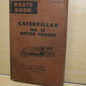 CAT Caterpillar 14 Motor Grader Parts Manual Book Catalog 35F series spare list