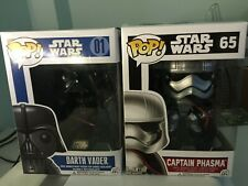FUNKO POP STAR WARS 01 DARTH VADER  65 Captain Phasma NEW