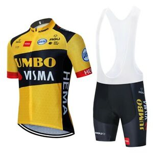 Jumbo Visma Pro Cycling jersey Quick Dry Bicycle clothing, Bib shorts
